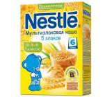Nestle безмолочная каша мультизлаковая, 5 злаков, с 6 месяцев, 200гр (31245)