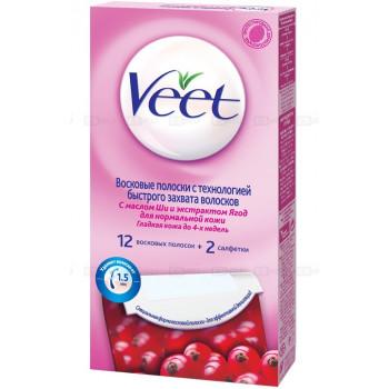 Veet juicy восковые полоски для Нормальной кожи, 12шт (11012)
