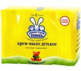 Ушастый нянь детский крем - мыло, с Алоэ вера и Подорожником, 4шт, 400гр (02009)