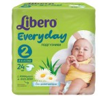 Libero everyday #2 подгузники, 3-6 кг, 24шт (13872)