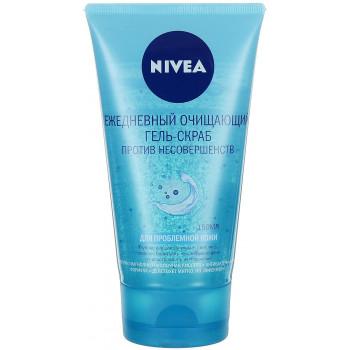 Nivea гель-скраб для ежедневного очищения лица 150мл (56290)