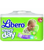 Libero everyday #4 подгузники, 7-18 кг, 42шт (13650)