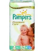 Pampers Premium Care #4 подгузники, 7-14 кг, 52шт (78818)