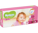 Huggies ultra comfort гига #4+ подгузники 10-16 кг, для девочек, 68шт (43765)