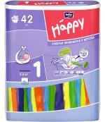 Happy new born #1 подгузники, 2-5 кг, 42шт (00693)