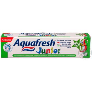 Aquafresh Junior детская зубная паста, с 6 лет, 50мл (92219)
