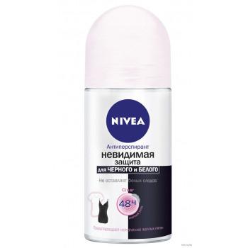 Nivea Women ролик дезодорант-антиперспирант, невидимая защита для черного и белого, 50мл (35264)