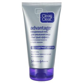 Clean & Clear Advantage ежедневный гель для умывания лица, для кожи склонной к появлению прыщей, 150мл (77596)