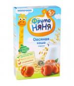 Фруто Няня каша молочная, овсяная с персиком, с 5 месяцев, 200гр (04297)