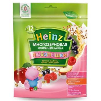 Heinz Любопышки каша, яблоко, малина, черная смородина, с 1-3 лет, 200гр  (01787)