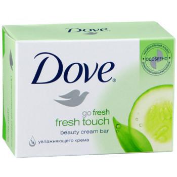 Dove туалетное крем-мыло Fresh touch, 100гр (10134)