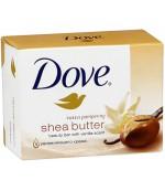 Dove туалетное крем-мыло Shea butter, 100гр (47420)