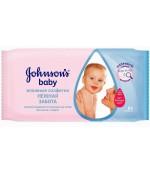 Johnsons baby салфетки влажные (нежная забота) 64шт (92160) (85588)