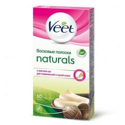 Veete восковые полоски Naturals с маслом Ши, 10 полосок (07332)