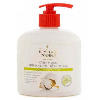 Красная линия жидкое мыло для интимной гигиены (с экстрактом хлопка) 250 мл (51883)