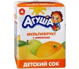 Агуша сок мультифрукт с мякотью, 6 месяцев, 0,2л (00530)