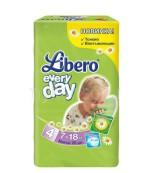 Libero everyday #4 подгузники, 7-18 кг, 20шт (71387)