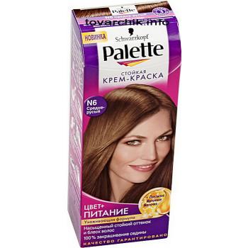 Palette краска для волос N6 (средне-русый) 51603