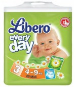Libero everyday #3 подгузники, 4-9 кг, 22шт (71363)
