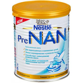 NAN Pre сухая молочная смесь для недоношенных и маловесных детей, 400г (60274)