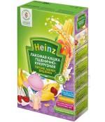 Heinz Лакомая каша пшенично-кукурузная, персик, банан, вишня, с 6 месяцев, 200гр  (01978)
