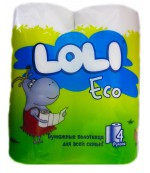 Loli eco полотенце бумажная, 2 слоя, 4 рулона (00160)