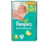 Pampers active baby dry #4 подгузники, 8-14 кг, 76шт (36271)