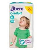 Libero comfort #6 подгузники, 12-22 кг, 72шт (91159)