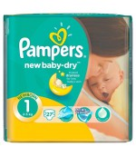 Pampers new baby #1 подгузники, 2-5 кг, 27шт (64453)