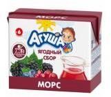 Агуша морс ягодный сбор, с 6 месяцев, 0,2л (07287)