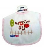 Bebeneo детский нагрудник из хлопковой ткани, розовый, 6+месяцев, 1 шт (83785)