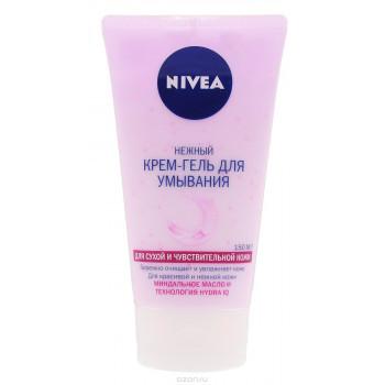 Nivea крем-гель для умывания, Миндальное масло и технология Hydra IG, 150мл (32697)
