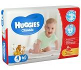 Huggies classic #4 подгузники, 7-18 кг, 68шт (43154)