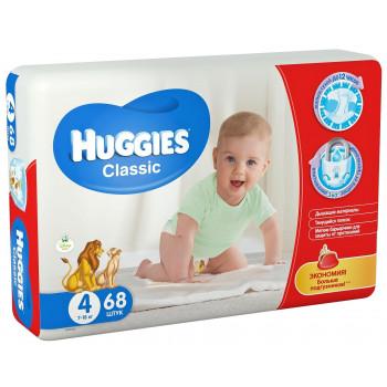 Huggies classic подгузники #4, 7-18 кг, 68шт (43154)