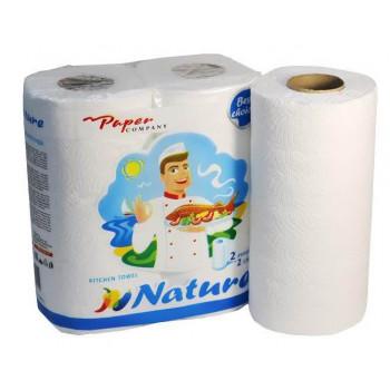 Paper Company бумажные полотенца, 2 рулона, 2 слоя, 140 отрывов в рулоне (40151)