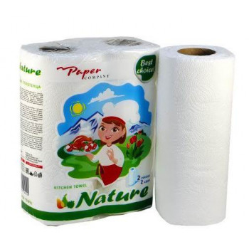 Paper Company бумажные полотенца, 2 рулона, 2 слоя, 100 отрывов в рулоне (40144)