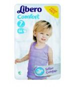 Libero comfort #7 подгузники, 16 - 26 кг, 66шт (84186)
