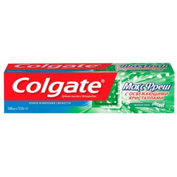 Colgate зубная паста МаксФреш с освежающими кристаллами, Нежная Мята 100мл (33151)