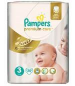 Pampers Premium Care #3 подгузники, 5-9кг, 20шт (87818)