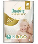 Pampers Premium Care #4 подгузники, 8-14кг, 20шт (40698)