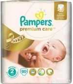Pampers Premium Care #2 подгузники, 3-6кг, 80шт (41633)