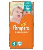 Pampers Sleep & Play #4 подгузники, 7-14кг, 68шт (03551)