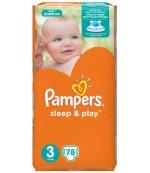 Pampers Sleep & Play #3 подгузники, 4-9кг, 78шт (03520)
