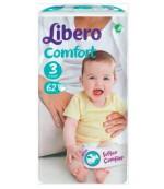 Libero comfort #3 подгузники, 4-9кг, 62шт (56469)