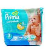 Pampers prima actif bebek #3, подгузники, 4-9 кг, 29шт (67398)
