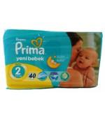 Pampers prima yeni bebek #2 подгузники, 3-6 кг, 40шт (67275)