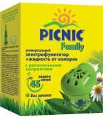 Picnik Электрофумигатор +жидкость от комаров, C растительными экстрактами, 45 дней (23125)