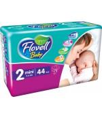 Flovell Baby #2 подгузники, 3-6кг, 44шт (22009)