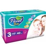 Flovell Baby #3 подгузники, 4-9кг, 40шт (22016)