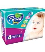 Flovell Baby #4 подгузники, 9-18кг, 36шт (22023)